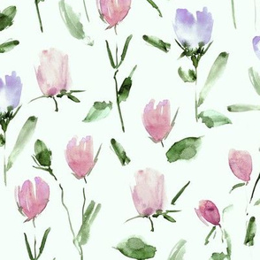 Rose garden treasures from Venice - watercolor roses - painted florals a122-6