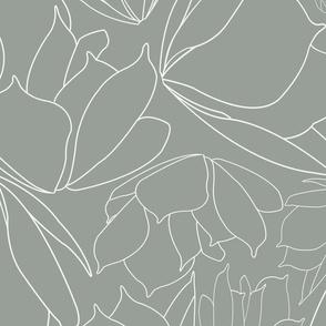 Green Line Floral Breakfast Tea Pattern