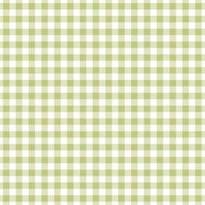 Small Gingham Pattern - Pear Green and White