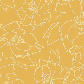 Yellow Hibiscus Floral Tea Pattern