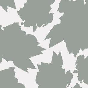 Green Hibiscus Tea Leaf Pattern
