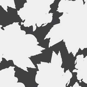 Black Hibiscus Tea Leaf Pattern