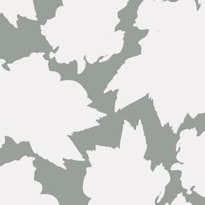 White Hibiscus Tea Leaf Pattern