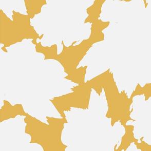 Yellow Hibiscus Tea Leaf Pattern