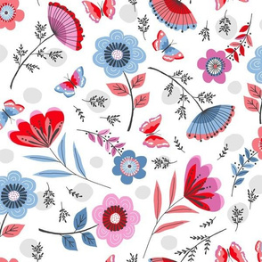 Hand-drawn floral
