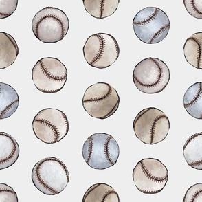 Baseball Back Then on Dove White