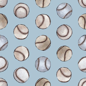 Baseball Back Then on Blue