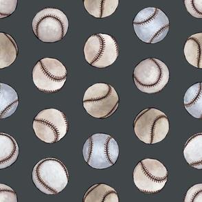 Baseball Back Then on Dark Gray
