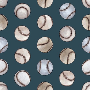 Baseball Back Then on Dark Blue