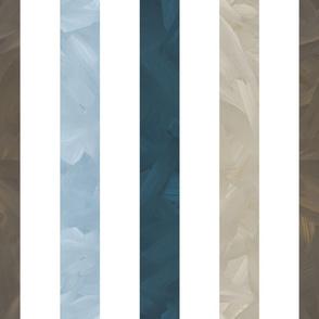 Large Stripe - Baseball Back Then on White Background