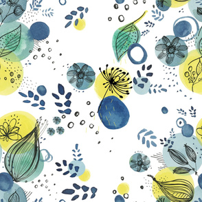 blue yellow wild flower yard3