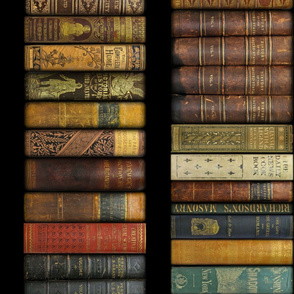 Monsieur Fancypantaloon's Instant Library _ Vertical _ 10.125 inch books _ Copyright Peacoquette 2021