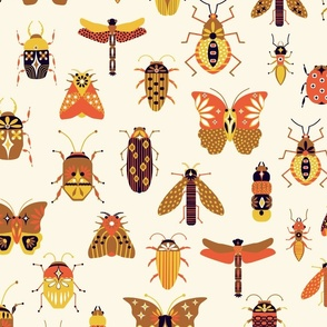 Insects on Parade Earth Colors