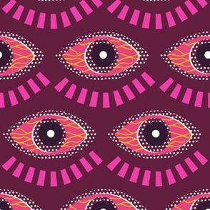 all seeing eye pink