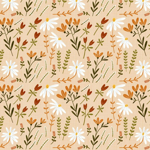 Modern Classic Hand Drawn Floral Summer Afternoon