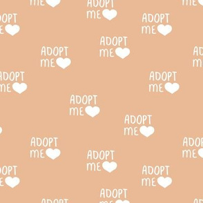 Adopt me pet love adopt don't stop dogs and cats good cause design moody orange