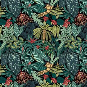 Jungle leaves - Medium