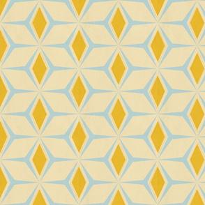 Fifties Diamonds // Mustard and Robin's Egg Blue