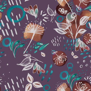 terr cotta floral 2 purple