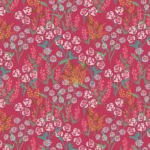 Among the Flowers Raspberry