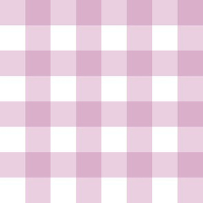 """1"""" Gingham Check (mulberry + white)"""