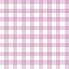 """1/2"""" Gingham Check (mulberry + white)"""