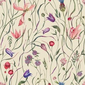 Watercoloe Botanical II Pattern