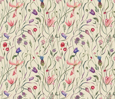 Watercoloe Botanical II Pattern