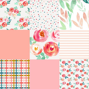 sweet rosaline easter florals cheater quilt