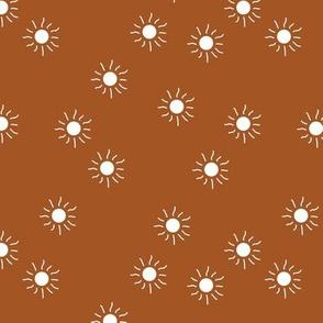 Little sunny day sunshine summer sky minimal abstract boho neutral nursery Scandinavian style brunt orange copper