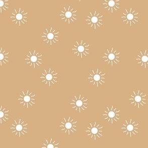 Little sunny day sunshine summer sky minimal abstract boho neutral nursery Scandinavian style butter yellow beige