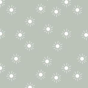 Little sunny day sunshine summer sky minimal abstract boho neutral nursery Scandinavian style misty green mint