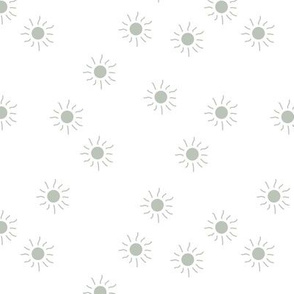 Little sunny day sunshine summer sky minimal abstract boho neutral nursery Scandinavian style misty green mint on white
