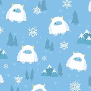 Kawaii Yeti  in the Snow - XL