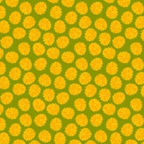 Dandelions green