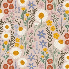 British Spring Meadow (large scale)