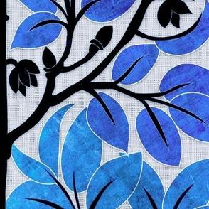 Parrots Art Nouveau (Monticole blue)