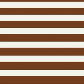 stripes - hazel brown