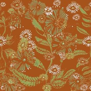Vintage Daisy Dance - Copper-Large