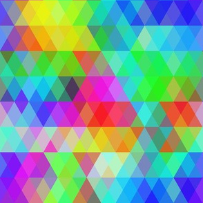 Abstract pattern with bright rainbow rhombus.