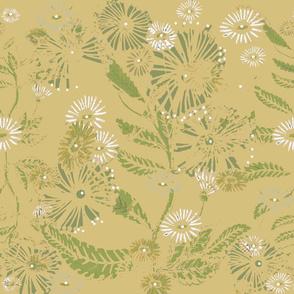 Vintage Daisy Dance - Mellow Gold  - Large