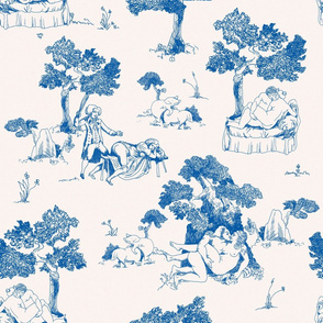 Naughty Toile classic blue