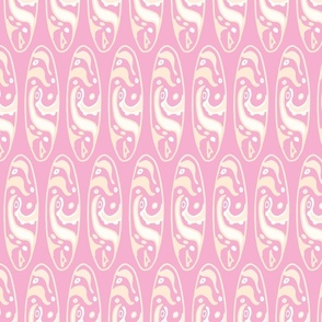 Tikki Surfboard Pink