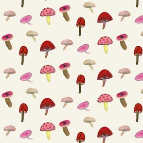 Pink Mushrooms