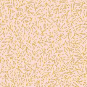 Foliage / blush mustard