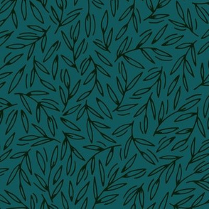 Foliage / emerald large scale