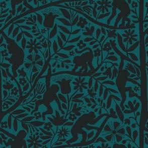 Kahlo's Monkeys / emerald