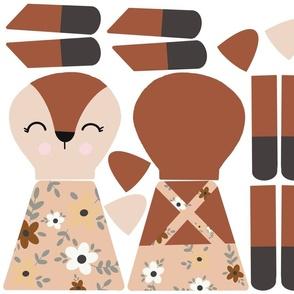 Fox cut and sew rag doll