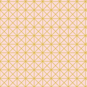 Grid / blush + mustard