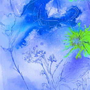 flower explosion blue